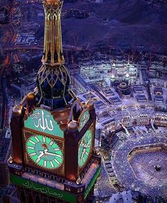 Macca, the city of lights, Clock Tower Mecca Madinah, Mecca Masjid, Masjid Al Haram, Photo Coran, Mecca Wallpaper, Paris Wallpaper, Medina Mosque, Mosque Architecture, Mekkah