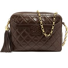 Chanel Vintage Dark Brown Chanel Shoulder Bag found on Polyvore