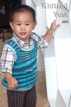 Toddler Vest Knitting Pattern - Round neck vest for kids and todldlers age 2 to 5. Using circular knitting needle. Invisible side & shoulder seams. – Page 2 of 2