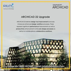 RIPL Launches Building Information Modeling (BIM) Archicad software program in India. It is the most advanced software available worldwide and will help Indian professionals to enhance their skills and deliver the best of the project. Tool Design, Design Process, Building Information Modeling, Productivity, Skyscraper, Software, Core, Architecture, Arquitetura