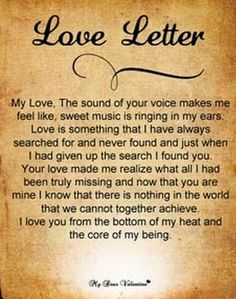 Love Letters For Him   Love Letters For Him    Poem