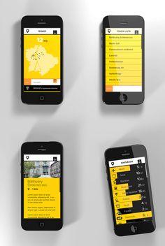 Infotoken Budapest by Pál Oláh, via Behance #ui #ux #interface #interaction #design #app