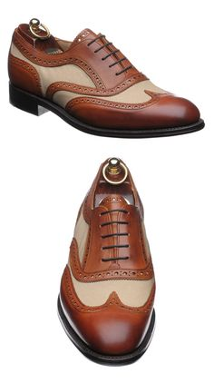 Herring Two Tone Brogue Shoes | FashionBeans