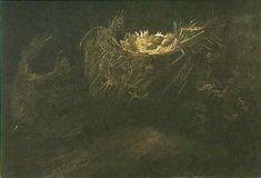 "Vincent van Gogh. ""Still Life with Three Birds' Nests"". Nuenen: October, 1885. Oil on canvas. 33'5x50'0cm."