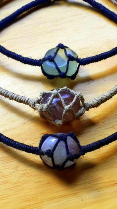 Assorted Hemp Net Wrapped Crystal Choker Necklaces                                                                                                                                                                                 More