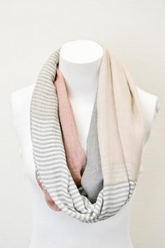 Coral+Pashmina+Infinity+Scarves+with+Pastel+by+ColoradoChickCo,+$21.95