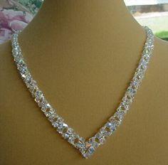 white wedding beads