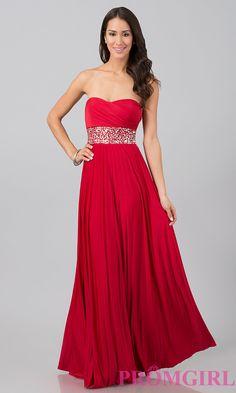 Red prom dress.