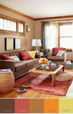 Use brown as the basis for your room color scheme and create an instant classic.