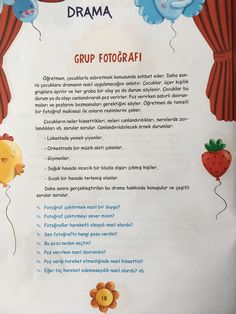 This Pin was discovered by Sev Drama Activities, Drama Games, Preschool Activities, Turkish Lessons, Values Education, Teaching Channel, Learn Turkish, Dramatic Play Centers, Behaviour Chart