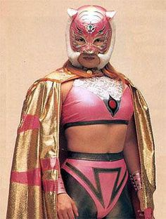 Japanese female wrestler Candy Okutsu as Tiger Dream