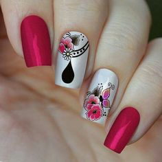 Pretty Nails, Manicure, Nail Art, Beauty, Gel Nail, Stickers, Purple Nails, Pink Nails, Colorful Nails