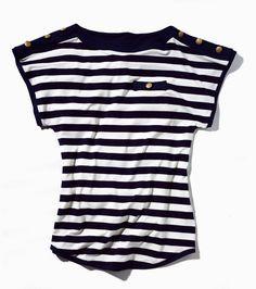 patrones de camisetas de mujer de moda a rayas - Buscar con Google