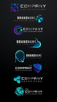 Gradient business logo vector minimal icon set | premium image by rawpixel.com / Kappy Kappy Logo Psd, Business Logo, Icon Set, Brand Identity, Slogan, Brand Names, Minimalism, Creative, Illustration