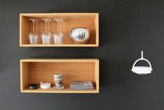 SkabRum, Hyldekasser.  #shelf #kitchen #bathroom #storage #shelves #boxes #homeinterior #interior #wood #oak