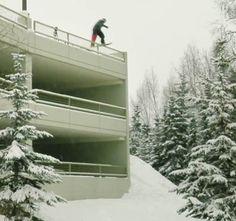 Urban snowboarding