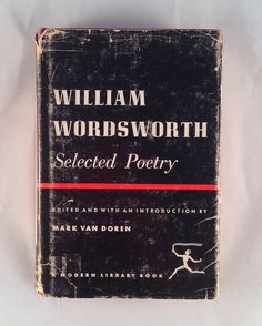 Wordsworth Selected Poetry, 1950s Modern Library vintage hardcover edition, @AnemoneReadsVintage