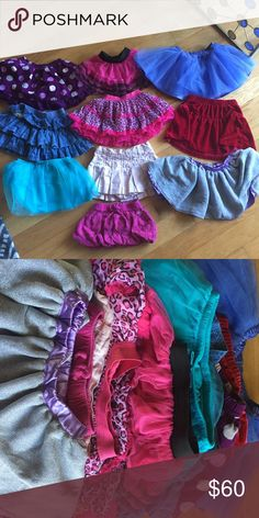 10 BABY SKIRTS Each are size 12 months/ one year. A couple of them are 12-18 mo. Brands include Gymboree, Disney Baby, Ralph Lauren, Hello Kitty, Wonder Kids, Roxy, and more. Any questions, please ask! Would prefer to sell as a whole lot as listed. Happy to consider reasonable offers but low balling will be ignored. Gymboree Bottoms Skirts