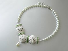 Wedding necklace beadwork beaded necklace jewelry bead