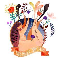 Hoy les quiero compartir una hermosa ilustración que me enamoró. Es de una ilustradora mexicana que se llama @la_morse 💖Me gustó mucho porque justamente se conecta con lo que hemos hablado en las semanas anteriores sobre re-conocernos y darnos mucho amor, acciones que son base para nuestra vida. Son el inicio de nuestras conexiones con el resto del mundo y del universo.Y siento que es un proceso como el de sembrar una planta. Son pequeñas semillas que estamos agregando en nosotras, para dar… Body Positivity, Female Infertility, Protest Posters, Sacred Feminine, Woman Illustration, Feminist Art, Power Girl, Fractal Art, Fantasy Art