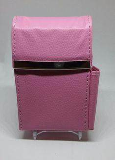 Marshals Pink Leather Wrapped Metal Framed Cigarette Case