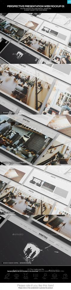 Perspective Presentation Web Mockup 01 — Photoshop PSD #3d website #monitor • Download ➝ https://graphicriver.net/item/perspective-presentation-web-mockup-01/19278217?ref=pxcr