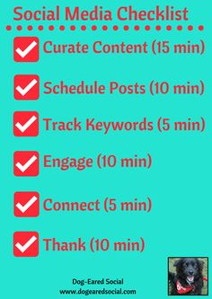 Social Media Checklist: Get It All Done in Under an Hour a Day   Social Media Today