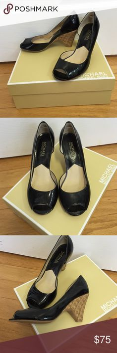 Michael Kors carina open toe naplake Michael Kors carina open toe naplake brand new! Only tried on at store and have sat in the box since! Size 6 Michael Kors Shoes Heels