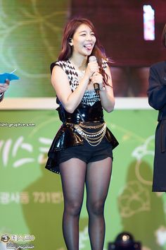 Ailee... it's strange to see her, now that she isn't this curvy, but I'm glad she's happy.