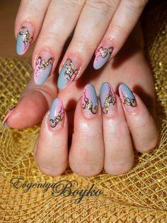 Evgeniya's airbrush  nägel  fotos Neon Gel