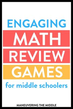 "Here are three great math review games that require students to ""get up and move""! #lessonplanning #middleschoolmath #mathreview #mathgames Games For Middle Schoolers, Middle School Teachers, High School, School Classroom, Classroom Ideas, Math Board Games, Math Games, Fun Math, First Year Teaching"