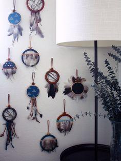 Modern Dreamcatcher Ornament - Boho Wall Hanging Dream Catcher - Bohemian Wall Art - Modern Bohemian Home Decor - Small Dreamcatcher - Shop Junylie  - 5