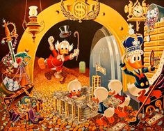 Hands off My Playthings - Reproduced after Carl Barks original by the Italian artist Gil
