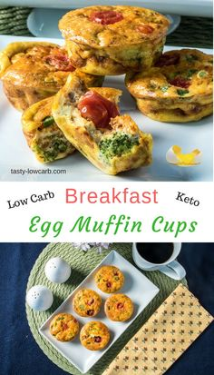Keto Egg Muffin Cups - Chorizo, Broccoli, and Cheese - Tasty Low Carb Yummy Appetizers, Appetizer Recipes, Low Carb Breakfast, Breakfast Recipes, Egg Recipes, Healthy Recipes, Delicious Recipes, Healthy Food, Yummy Food
