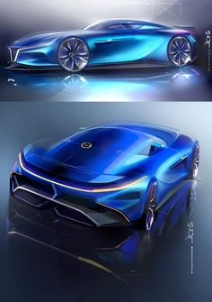 Mazda RX7 Concept Design Sketch Render by Milton Tanabe link: