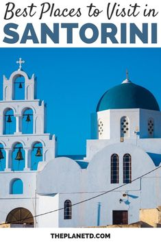 Santorini is known for its sprawling whitewashed villages clinging to the high sea cliffs overlooking the Aegean Sea. But there are so many places to visit in Santorini that it will surprise you. There is so much to do on this gorgeous Greek island. | Blog by the Planet D | #Travel #Santorini #Greece | what to do in santorini | things to do in santorini | greece santorini things to do Santorini Travel, Santorini Greece, Greece Travel, Beach Travel, Beach Trip, Us Travel, Top All Inclusive Resorts, Traveling Europe, Destin Beach
