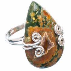 Gorgeous Ocean Jasper Gemstone Designer Ring