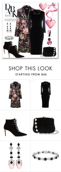 """Roberto Cavalli Floral Print Coat Look"" by romaboots-1 ❤ liked on Polyvore featuring Roberto Cavalli, Just Cavalli, Balenciaga, Serpui, Glitzy Rocks and Christian Dior"