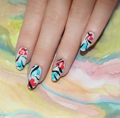 Do you love Holiday Manicures? Here's the perfect Valentine's Day Manicure from JINSoon Modern Valentine's Manicures Modern Valentine Nail Art