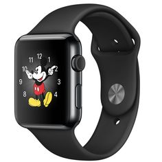 Buy Apple Watch 42mm Space Black Stainless Steel Case with Black Sport Band - Apple