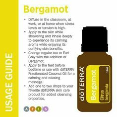 Ideas on how to use Bergamot essential oil from doTERRA