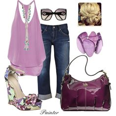 ~Plum Crazy~, created by mels777 on Polyvore