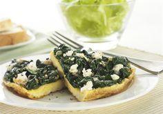 Mushroom, Feta and Spinach Quiche