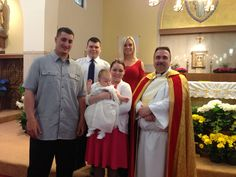(9) Kaliahna Marie Cirrone. Baptized 4/14/2013.  St Margaret Church Burlington MA. Parents Richard and Katie