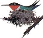 Charley Harper - Hummingbird in Nest, from The Animal Kingdom, 1968