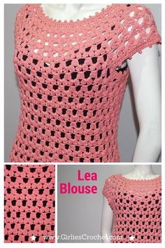lea blouse, free crochet pattern, easy, crochet top, pattern for beginners, jacket, vest