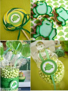 cute frog themed party
