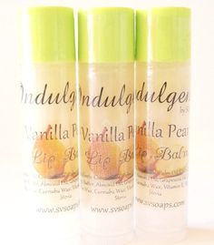 Vanilla Pear Vegan Lip Balm by SV.Soaps by svsoaps on Etsy, $4.00