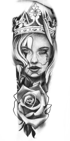 Chicano Tattoos Sleeve, Chicano Style Tattoo, Best Sleeve Tattoos, Realistic Tattoo Sleeve, Full Sleeve Tattoo Design, Half Sleeve Tattoos Designs, Chicanas Tattoo, Forarm Tattoos, Skull Tattoos