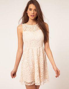 ShopStyle: Lipsy Lace Skater Dress